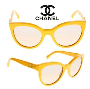 Chanel Chanel Sunglasses 5315 Yellow Pantos Signature