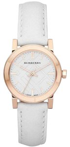 Burberry Burberry Rose Gold White Dial Ladies Watch Bu9209