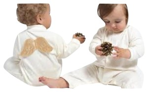Marie chantal angel velour sleepsuit