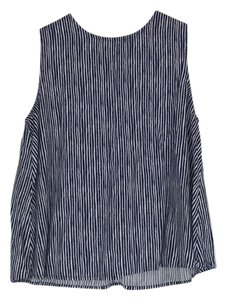 Old Navy Top white and navy organic stripe