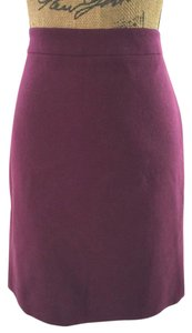 J.Crew Wool Pencil Office Skirt Purple