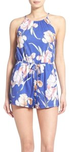 MINKPINK short dress blue and floral Romper on Tradesy