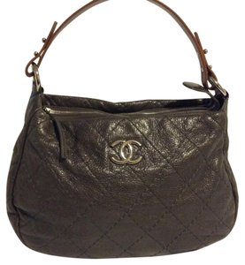 Chanel Road Leather Hobo Bag