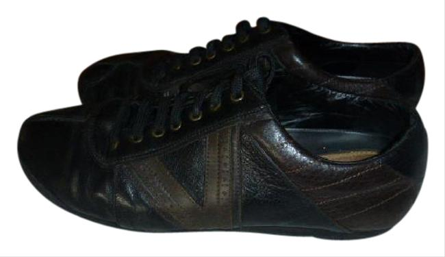 Louis Vuitton Black with Brown Italy Sneakers Size US 9 Regular (M, B) Louis Vuitton Black with Brown Italy Sneakers Size US 9 Regular (M, B) Image 1