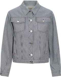 Maison Kitsuné Denim Striped Womens Jean Jacket