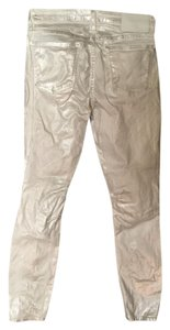 Helmut Lang Rocker Silverescent Sexy Ankle Skinny Jeans-Coated