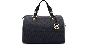 Michael Kors Satchel in Black Monogram