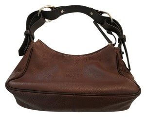 Dooney & Bourke Pebble Leather Satchel in Brown/Tan