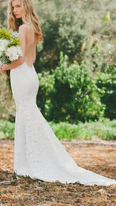 Katie May Ivory Cream Corded Lace Poipu Sexy Wedding Dress Size 4 S