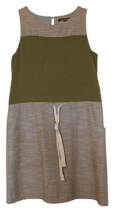 Hive & Honey short dress Olive Green and Beige on Tradesy