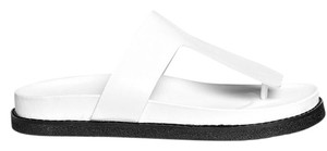 Alexander Wang Black Slice White Sandals