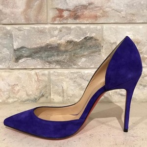 Christian Louboutin Iriza Stiletto Suede Heel purple Pumps