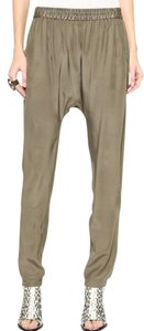 Shopbop Basics Silk Harem Shopbop Limited Edition Relaxed Pants neutral brown