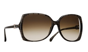 Chanel Chanel Rectangular Brown Marble Over-sized Sunglasses