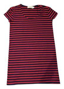 Fighting Eel short dress Red and Blue Stripe on Tradesy