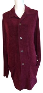 Chico's Button Down Shirt Maroon