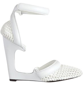 Alexander Wang White Cheap Leather Leather Chalk Sandals