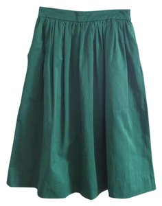 Zara Pockets Skirt Emerald Green