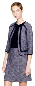 J.Crew New With Tags J Crew Navy Blue 3/4 sleeve Tweed Jacket Skirt Suit Set