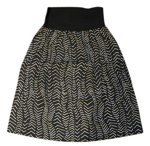 Fighting Eel short dress Black and White Chevron on Tradesy