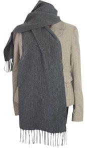 Saint Laurent YVES SAINT LAURENT GRAY WOOL CASHMERE SCARF MADE ITALY