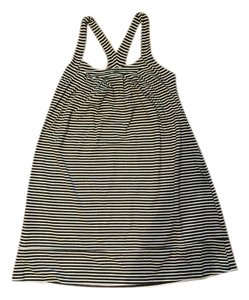 Fighting Eel short dress Black and White Stripe on Tradesy