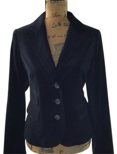 Ann Taylor LOFT Office Pocket Interview Velvet Steampunk black Blazer