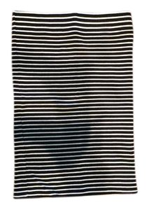 Madewell Mini Skirt Black and White Stripe