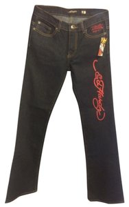 Ed Hardy Flare Leg Jeans-Medium Wash