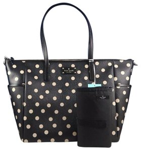 Kate Spade Tote Black, Beige Diaper Bag