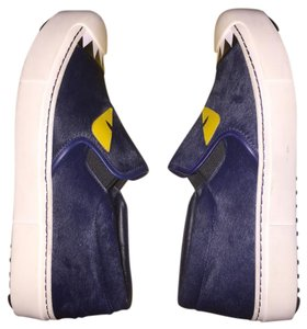 Fendi Monster Sneaker Blue Platform Athletic