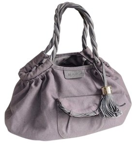 See by Chloé Chloe Canvas Leather Tote in Gray