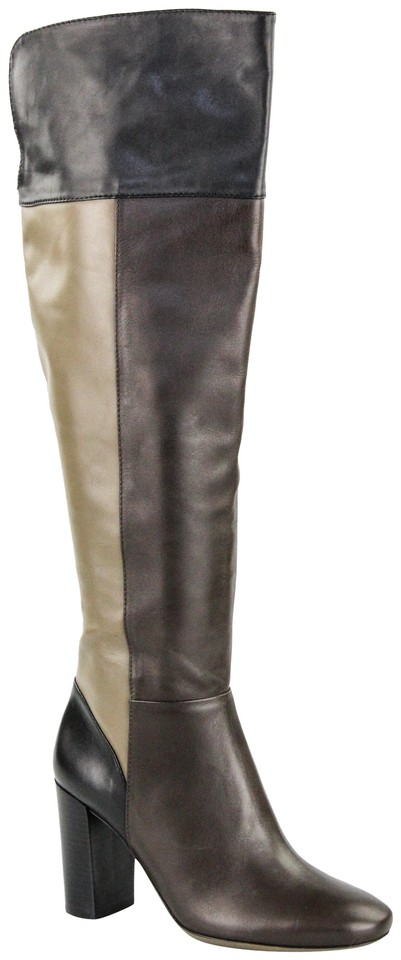 Tory Burch Tri-color Brown Boots/Booties Bowie Over-the-knee 85 Leather Boots/Booties Brown 2ec1e0