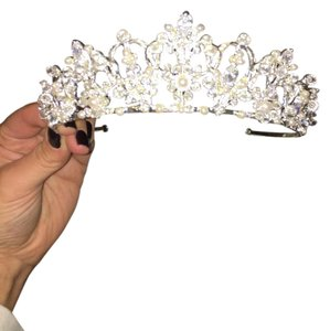 David's Bridal Tall Crystal Rhinestone Tiara