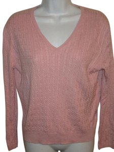 Brooks Brothers Cable V-neck Silk Summer Sweater