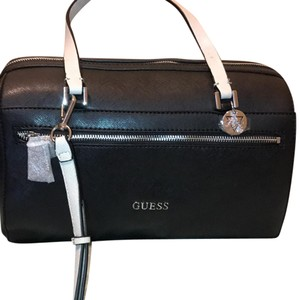 Guess Satchel in Black with the white straps