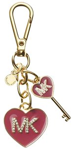 Michael Kors Michael Kors MK Enamel Red Heart Key Chain Key charm with BOX