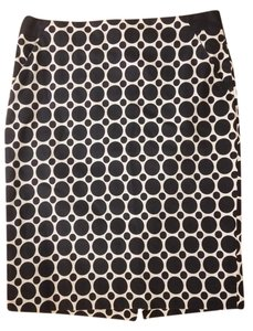 The Limited Pencil Size 4 Polka Dot Skirt Navy and ivory