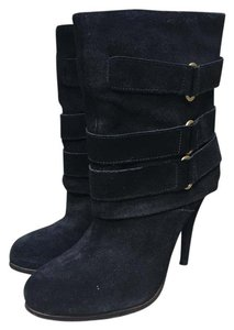 Joie Suede Ankle Ankle Buckles Black Boots