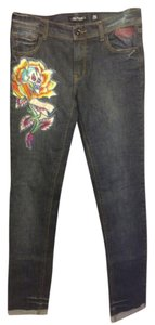 Ed Hardy Skinny Jeans-Light Wash