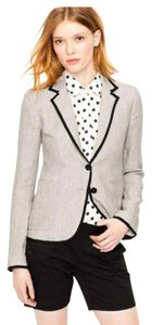 J.Crew light grey with navy piping Blazer