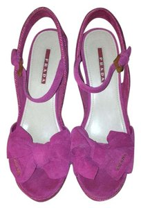 Prada Pink Wedges