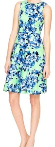 J.Crew short dress Blue and Green on Tradesy