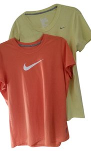 Nike T Shirt Coral & Yellow