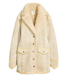 H&M Suede Shearling Coat