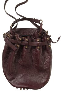 Alexander Wang Leather Handbag Crossbody Diego Hobo Bag