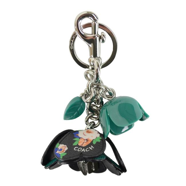 Item - Green Rose Resin and Leather Purse Keychain Charm
