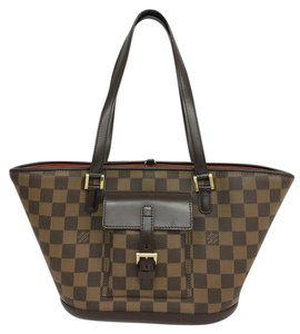 Louis Vuitton Lv Manosque Pm Damier Ebene Canvas Shoulder Bag