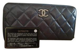Chanel Chanel Patent Leather Zip Wallet