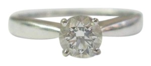 Other 18KT GIA Round Cut Natural Diamond Solitaire Ring .61Ct F-VS2